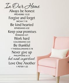 Another great find on #zulily! 'In Our Home' Wall Decal by DecorDesigns #zulilyfinds