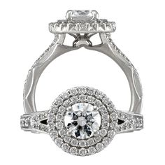 Modern Engagement Ring style 1R2843