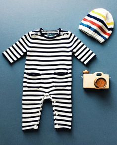 wear: we heart little onesies like this cozy navy and white striped sweater piece. the cutest outfit for chilly fall outings.