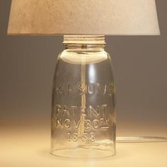 One of my favorite discoveries at WorldMarket.com: Mason Jar Accent Lamp Base