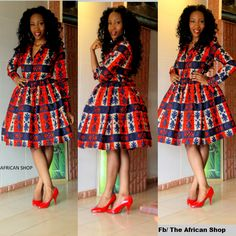 AfricaInFashion The red shoes work well with it