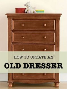 When your room needs an overhaul, the first thing that often goes out to the curb is that tired old dresser. Before you throw it away though, think about the many ways you can refurbish it to make it into a completely new piece of furniture. A bit of pain Refurbished Furniture, Paint Furniture, Repurposed Furniture, Furniture Projects, Furniture Making, Furniture Makeover, Home Projects, Dresser Makeovers, Armoire