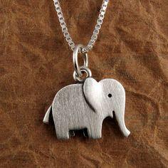 Happy elephant necklace