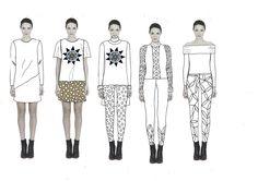 Fashion Sketchbook - fashion illustrations; line up development; fashion portfolio // Kitty Lawrence