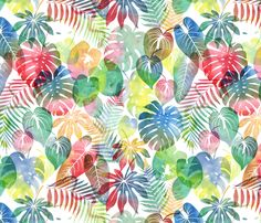 Rousseau's Jungle Large2 fabric by sarahjean on Spoonflower - custom fabric