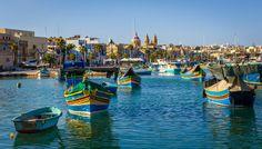 Maltese boats set a beautiful scene for #colorfultravel