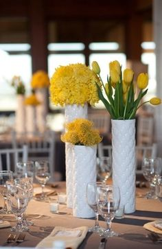 paisley, rustic, centerpieces, decor, flowers, grey, table, yellow, wedding, Kerrville, Texas