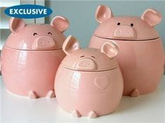 Del Rey 3-pc. This Lil' Piggy Canister Set, Pink by Del Rey, http://www.amazon.com/dp/B008BB141Y/ref=cm_sw_r_pi_dp_TTV5pb0MTVKXF