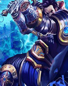 League of Legends hero Jarvan Ⅳ blue t shirt short sleeve 2015 lol hero latest tee-