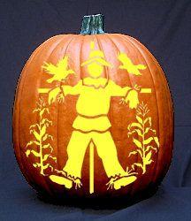 Scarecrow Pattern – Free Pumpkin Carving Patterns
