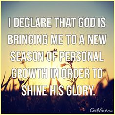 I declare that this is a new season! #inspiration