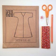 100 actes de couture : patron de robe n ° 3 - couture (tailles XL - 4XL)