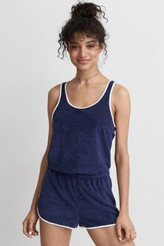 American Eagle Outfitters AE Soft & Sexy Terry Romper #affiliate
