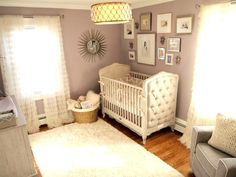 This #netural colored #nursery defines sophisticated #glam.