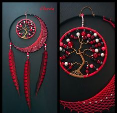 Love this . Take a look at - Salvabrani Dream Catcher Patterns, Dream Catcher Decor, Dream Catcher Mobile, Dream Catchers, Feather Crafts, Wire Crafts, Diy And Crafts, Wire Wrapped Jewelry, Wire Jewelry