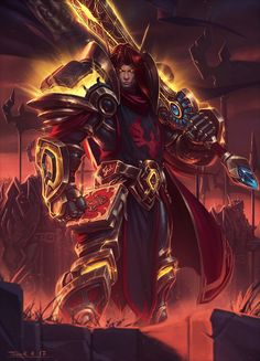 Venture to the land of Azeroth and enjoy incredible artwork by the World of Warcraft community. World Of Warcraft Paladin, World Of Warcraft Game, Warcraft Movie, Warcraft Art, Dark Fantasy, Fantasy Armor, Dh Wow, Character Portraits, Character Art