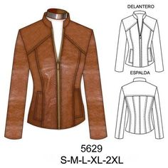 Coat Patterns, Clothing Patterns, Dress Patterns, Boucle Jacket, Leather Jacket, Sewing Clothes, Diy Clothes, Coats For Women, Jackets For Women