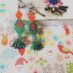 You are here - earrings 35 lei  Handmade earrings from superduos beads Cercei confectionati manual (handmade) din margele superduo. Pentru comenzi la Fabrica de bucurii - Joy Factory #cercei #magazinhandmade #earringsshop #earrings #handmadeearrings #joyfactorytsa