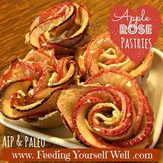 AIP & Paleo - Apple Rose Pastries - www.FeedingYourselfWell.com
