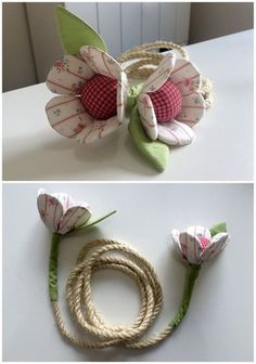 Crochet ideas that you'll love Handmade Flowers, Diy Flowers, Fabric Flowers, Diy Bow, Diy Ribbon, Sewing Crafts, Sewing Projects, Fleurs Diy, Quilting For Beginners