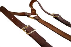 Avaliable via etsy - brown leather suspenders for the groomsmen @ $65 USD ea hopefully we can get them cheaper