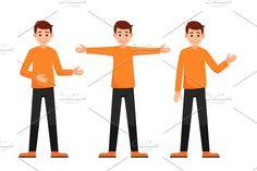 character hand gestures presentation by Ponomariova on @creativemarket