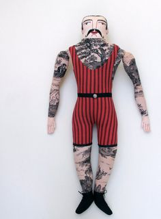 tattoo man in vintage swimwear. He is so awesome!