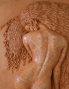 Le Tatouage by Pierre-Hugaux Massi  High relief ceramic limited edition of # 50
