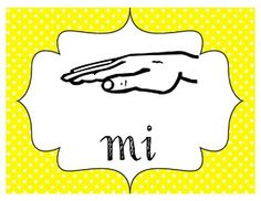 Solfege Hand Sign Posters- Polka Dot