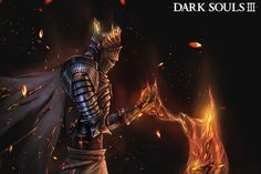 Dark soul 3 fan art, soul of cinder by Luklim