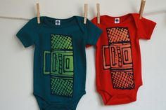 Cool boombox onesies for babies