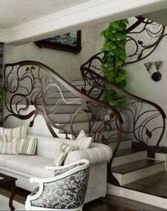 luxury homes - art nouveau design staircase Art Nouveau Interior, Art Nouveau Architecture, Art Nouveau Design, Interior Architecture, Design Art, Design Ideas, Art Nouveau Bedroom, Home Interior, Interior And Exterior