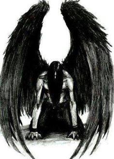 The Fallen Angel Dark Angels, Angels And Demons, Fallen Angels, Male Fallen Angel, Dark Angel Wings, Foto Fantasy, Dark Fantasy Art, Dark Art, Vampire Rave