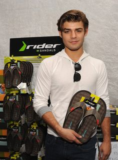 Garrett Clayton from Teen Beach Movie is all set to rock his Rider Sandals post-workout! #TeenChoiceAwards #RiderSandals
