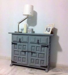 Después mueble castellano con Paintiza Ideas Recibidor, Sideboard, Chalk Paint, Ideas Para, Dyi, Shabby Chic, Painting, Inspiration, Furniture