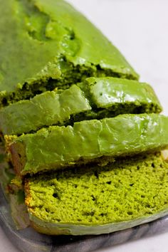 Rich, moist, and classic with a twist, my Vegan Matcha Pound Cake is the perfect texture, easy to make and totally vegan and oil-free! Whole Food Recipes, Vegan Recipes, Dessert Recipes, Cake Recipes, Banana Nice Cream, Vegan Ice Cream, Love Eat, Vegan Sweets, Vegan Baking