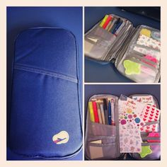 My travel wallet to on-the-road-filofax'ing - oh I love these stationary cases so much :-D