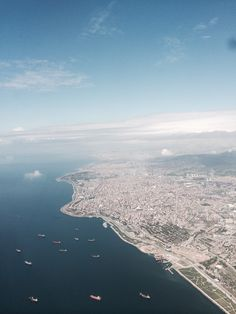 Istanbul from helicopter view