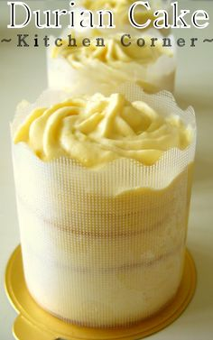 I& got few boxes of durian in the freezer. Other than thinking to make some cream puff or ice cream. I would like to try out some new stuf. Icebox Cake Recipes, Layer Cake Recipes, Bakery Recipes, Dessert Recipes, Bakery Cakes, Food Cakes, Cupcake Cakes, Cupcakes, Custard Cream Cake