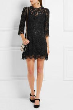 Dolce & Gabbana   Guipure lace mini dress   NET-A-PORTER.COM