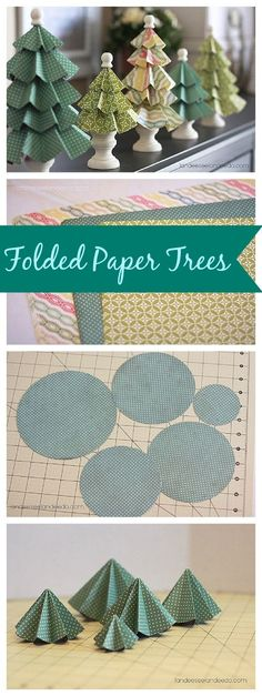 DIY Folded Paper Trees - Super CUTE and EASY Christmas Decorations Tutorial!