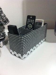 Porta controle remoto com caixa de leite!!