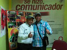 con Cheo Silva en Gira de Medios en Ciudad Bolivar