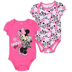 DB Minnie Mouse Baby Girls 2 Pack Creeper Set /… 6-9