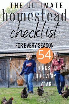 Homestead Farm, Homestead Living, Farms Living, Homestead Survival, Emergency Food Kits, Emergency Preparedness, To Do Checklist, Farm Plans, Pioneer Life