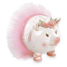 Mud Pie™ Tiny Dancer Giant Size Ceramic Piggy Bank