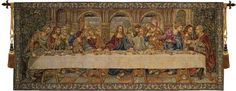 Woven in Italy History: Last Supper VII is an Italian jacquard tapestry is based on a 15th century mural painting in Milan created by Leonardo da Vinci. The Las