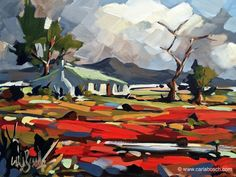 Old Farmhouse Carla Bosch Paintings Famous, Great Paintings, Nature Paintings, Beautiful Paintings, Landscape Paintings, South African Artists, Art Graphique, Bosch, Pictures To Paint