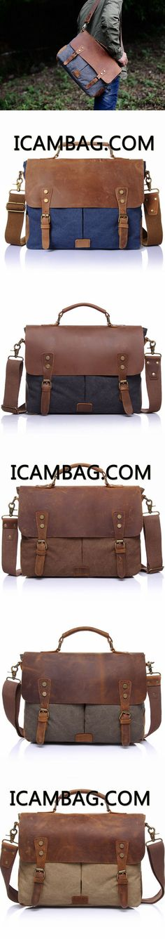 CRAZY HORSE LEATHER BAG CANVAS LEATHER TRAVEL BAG SINGLE SHOULDER BAG MESSENGER LAPTOP BAG 1807