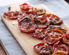 They took forever to dry, but are so good! We got a huge bag of romas from the farmers market, so I used those and they turned out salty, sweet, and delicious. Tip: How To Make Sun-Dried Tomatoes, Without the Sun!